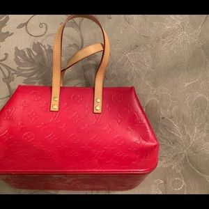 Louis Vuitton Red Patent Leather Tote